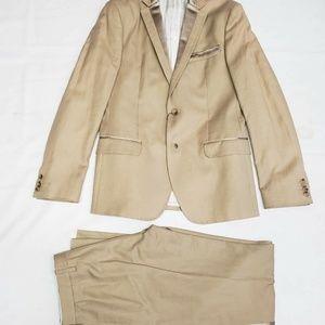 Dolce & Gabbana Silk Trimmed 2-Piece Suit - Beige